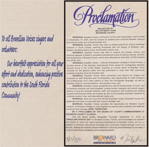 """Read more about the article """"Brazilian Voices Day"""" Proclamation"""